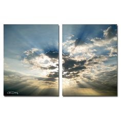 Christopher Doherty 'Cloud Escape I' Canvas Wall Art (Set of 2)