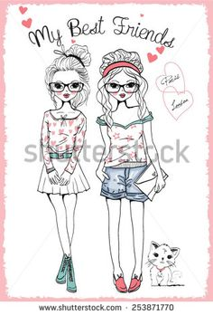 fashion illustration girls #253871770