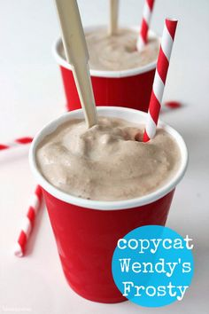 Copycat Wendy's Frosty recipe -There is nothing like  a Wendy's Frosty on a hot summer day.  It is a chilly treat that refreshes and cools you off without the mess of an ice cream cone.  This Copycat Wendy's Frosty is super easy to make, only requiring three ingredients and a blender.