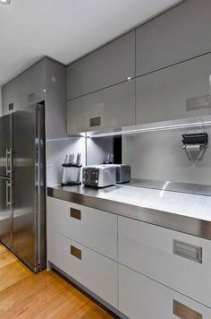New Kitchen Designs, Luxury Kitchen Design, Kitchen Room Design, Contemporary Kitchen Design, Kitchen Cabinet Design, Kitchen Layout, Interior Design Kitchen, Home Design, Kitchen Ideas