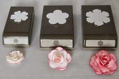 Lüftchen - Basteln mit Papier und Stempeln: Rosen aus Papier
