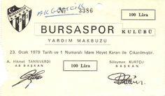 Bursaspor, yardım makbuzu