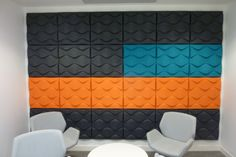 Soundwave acoustic panel installation. For more information on this product visit - http://www.respace-acoustics.co.uk/products/acoustic-panels/offecct-soundwave/