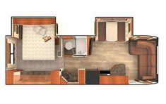Travel Trailer Floor Plans, Rv Floor Plans, Small Travel Trailers, Trailer Plans, Rv Trailers, Lance Campers, Camper Flooring, Stainless Backsplash, Cool Tents