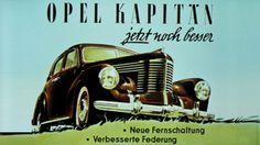 Opel Kapitän -mallin mainos, 1948.