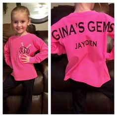 Spirit jersey for toddlers Little girls by PoshPrincessBows1