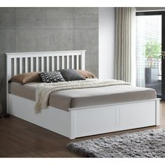 63421bddfe53 Not just a stylish bedframe but a magnificent storage solution too, the  Malmo Ottoman White serves as a beautiful bed that's ideal for master  bedrooms.