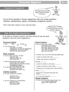 Printables Hygiene Worksheets For Elementary Students worksheets personal care and hygiene on pinterest for kids level 2 5