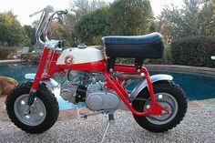 (1968) Honda Mini-Trail Z50A K0 Scarlet Red. Photo Courtesy Of Marbles Motors...