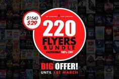 220 MASSIVE Flyer Bundle 98%OFF - Flyers