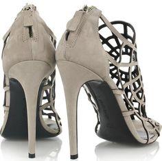 Roberto Cavalli Spider-web Suede Sandals