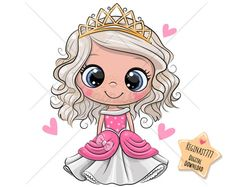 Cartoon Princess with hearts isolated on a white background. Cute Cartoon Little Princess in a pink dress with hearts isolated on a white background vector illustration Cartoon Cartoon, Disney Cartoon Characters, Cute Cartoon Girl, Princess Cartoon, Cute Princess, Disney Cartoons, Little Princess, Princess Birthday, Illustration Mignonne
