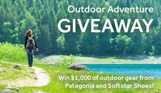Win $1000 of outdoor gear from Patagonia and Softstar Shoes! Entering is super easy.