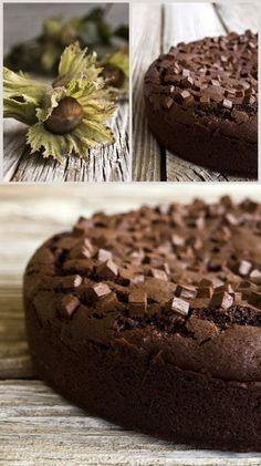 Bizcocho de chocolate y avellanas