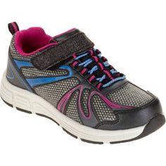 Danskin Now Girls' Glitter Athletic Shoe, Size: 13, Black