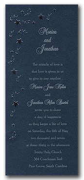 Starry Night - Wedding Invitations, Party Invitations and other Fabulous Stationery