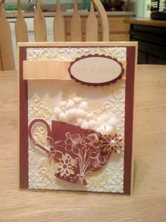 A Cup of Thanks card