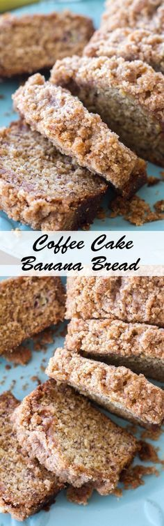 banana bread recipe is topped with a sweet crumb topping making it a cross between a quick bread and coffee cake!classic banana bread recipe is topped with a sweet crumb topping making it a cross between a quick bread and coffee cake! Oreo Dessert, Dessert Bread, Fruit Bread, Banana Dessert, Bread Food, Coffee Dessert, Just Desserts, Delicious Desserts, Dessert Recipes
