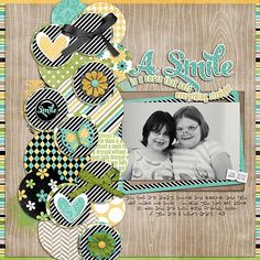Always Smiling - Scrapbook.com what a great way to use scraps!