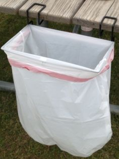 JPC Products Trash-ease-13-W Portable Garbage Bag Holder Camper Trailer RV - COOL IDEA!  Only $11.95 on this site.