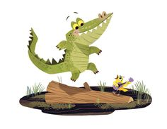 """다음 @Behance 프로젝트 확인: """"Alligator Jig!"""" https://www.behance.net/gallery/35633143/Alligator-Jig"""