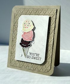 For today's Inspiration Challenge, Audrie picked out an amazing website featuring a very talented miniature artist named Lorraine Loots.   I chose this ice cream image http://lorraineloots.com/item/15-may-2014/  TFL!  And I hope you stamp today!