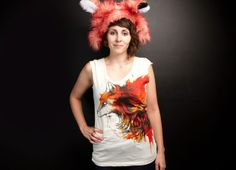 """Lady Fox"" - Threadless.com - Best t-shirts in the world"