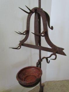 18th century antique bird roaster with drip