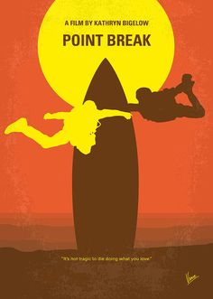 Point Break (1991) ~ Minimal Movie Poster by Chungkong #amusementphile