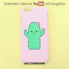 How i made this super kawaii cactus phone case full tutorial is up