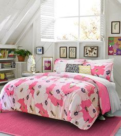asian lily print full size toile bedding sets