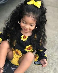 Baby girl cute kids Ideas for 2019 So Cute Baby, Cute Mixed Babies, Cute Black Babies, Pretty Baby, Cute Baby Clothes, Cute Babies, Stylish Clothes, Black Mexican Babies, Stylish Kids