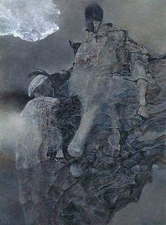 Zdzisław Beksiński (B&W.repro.of.a.painting)