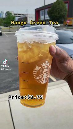 Starbucks Tea, Healthy Starbucks Drinks, How To Order Starbucks, Yummy Drinks, Starbucks Green Tea Drinks, Starbucks Secret Menu Drinks, Smoothie Drinks, Smoothies, Pantry Shelving