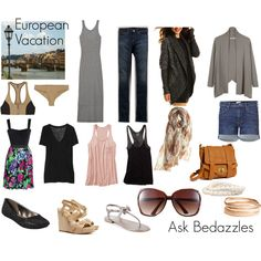 What to pack on your European Vacay!!