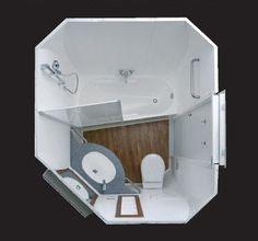 Salle de bain contemporaine / stratifiée / préfabriquée / à usage professionnel - ELYSEANE - ALTOR INDUSTRIE