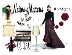 """The Holiday Wish List With Neiman Marcus: Contest Entry"" by irene-paula ❤ liked on Polyvore featuring Neiman Marcus, Theia, DANNIJO, Forever 21, Bobbi Brown Cosmetics, Topshop, Hermès and Leftbank Art"