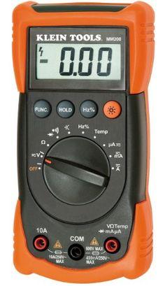 Klein Tools MM200 Auto Ranging Multimeter Klein Tools,http://www.amazon.com/dp/B003LCITWA/ref=cm_sw_r_pi_dp_QA7ytb07RYD8S4FX