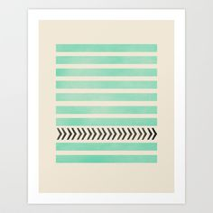 Buy MINT STRIPES AND ARROWS by Allyson Johnson as a high quality Art Print. Worldwide shipping available at Society6.com. Just one of millions of products…