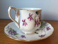 Royal Albert Violets February Flower of The Month by CupandOwl