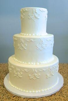 All white wedding cake Fondant Wedding Cakes, All White Wedding, Wedding Season, Sweet, Style, Stylus