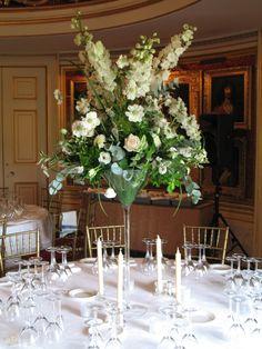 tall arrangement at Goodwood House Ballroom