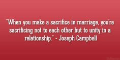 Sacrifices in a couples relationship = unity.  Counselors, join us at: Facebook.com/LifesLearningForCounselors http://lifeslearning.org/      Twitter: @ sapelskog  * Counselors, join us: Facebook.com/LifesLearningForCounselors *