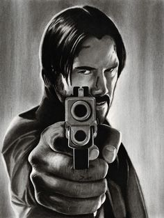 Keanu Reeves as John Wick.Arches Aquarelle Watercolor Hot Pressed 300 g/m inches. H, B Generals & Derwent pencils, Wolff's & Carbon Pencils, Pentel mechanic. Keanu Reeves John Wick, Keanu Charles Reeves, Baba Yaga, Halle Berry, Wick Movie, Movie Poster Art, Film Serie, Cultura Pop, Ms Gs