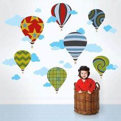 Adesivo De Parede, Guarda Roupas. Balão Balões