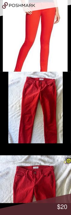 """Old Navy Red Rockstar Cords Pants Size 8 Skinny cords.  98% cotton and 2% spandex. 7"""" rise.  15"""" across the waist and 29"""" inseam. Old Navy Pants Skinny"""