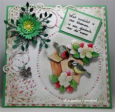 Jacqueline Pannekoek: Jeanines art Classic garden Classic Garden, Bird Cards, Card Making, Crafts, Design, Handmade Cards, Handmade, Hands, Manualidades