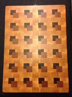 3D cutting board by MooreHardwoodDesigns on Etsy