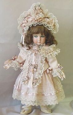 Doll Dress and Bonnet ♥ Dollightfully Yours ♥ Cheryl Imbornone
