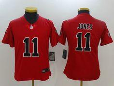 Youths Atlanta Falcons 11 Julio Jones Red Rush Limited Jersey